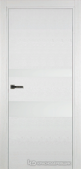 Дверь Краснодеревщик 7 03 (стекло белое) с фурнитурой, Эмаль белая натуральный шпон