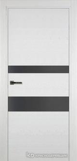 Дверь Краснодеревщик 7 03 (стекло серое) с фурнитурой, Эмаль белая натуральный шпон