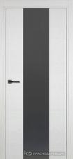 Дверь Краснодеревщик 704 (стекло серое) с фурнитурой, натуральный шпон Эмаль белая