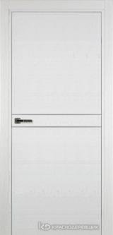 Дверь Краснодеревщик 7 06 (молдинг) с фурнитурой, Эмаль белая натуральный шпон