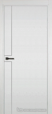 Дверь Краснодеревщик 707 (молдинг) с фурнитурой, натуральный шпон Эмаль белая