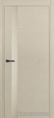 Дверь Краснодеревщик 701 (стекло белое) с фурнитурой, натуральный шпон Эмаль жемчужная
