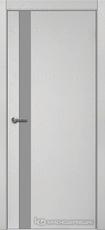 Дверь Краснодеревщик 701 (стекло серое) с фурнитурой, натуральный шпон Эмаль светло-серая