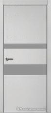 Дверь Краснодеревщик 703 (стекло серое) с фурнитурой, натуральный шпон Эмаль светло-серая
