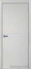 Дверь Краснодеревщик 706 (молдинг) с фурнитурой, натуральный шпон Эмаль светло-серая