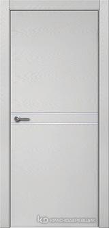 Дверь Краснодеревщик 7 06 (молдинг) с фурнитурой, Эмаль светло-серая натуральный шпон