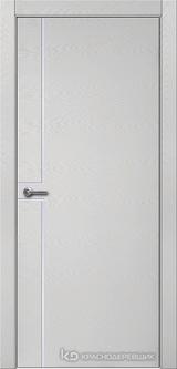 Дверь Краснодеревщик 7 07 (молдинг) с фурнитурой, Эмаль светло-серая натуральный шпон