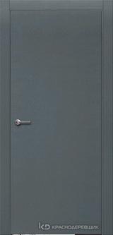 Дверь Краснодеревщик 7 00 с фурнитурой, Эмаль серая натуральный шпон