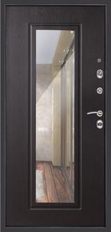 Дверь Дверной континент Сити-зеркало Мокрый асфальт  Венге
