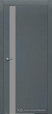 Дверь Краснодеревщик 701 (стекло серое) с фурнитурой, натуральный шпон Эмаль серая
