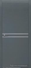 Дверь Краснодеревщик 706 (молдинг) с фурнитурой, натуральный шпон Эмаль серая