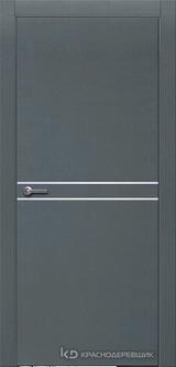 Дверь Краснодеревщик 7 06 (молдинг) с фурнитурой, Эмаль серая натуральный шпон