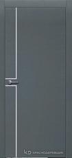 Дверь Краснодеревщик 707 (молдинг) с фурнитурой, натуральный шпон Эмаль серая