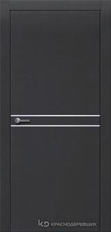 Дверь Краснодеревщик 7 06 (молдинг) с фурнитурой, Эмаль черная натуральный шпон