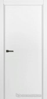 Дверь Краснодеревщик 73 0 с фурнитурой, Эмаль белая MDF