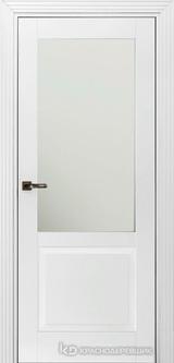 Дверь Краснодеревщик 73 2.1 (стекло матовое) с фурнитурой, Эмаль белая MDF