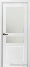 Дверь Краснодеревщик 733.1 (стекло матовое) с фурнитурой, MDF Эмаль белая