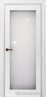 Дверь Краснодеревщик 73 9 (стекло триплекс) с фурнитурой, Эмаль белая MDF
