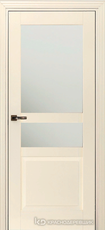 Дверь Краснодеревщик 733.1 (стекло матовое) с фурнитурой, MDF Эмаль жемчужная