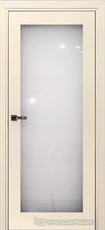 Дверь Краснодеревщик 739 (стекло триплекс) с фурнитурой, MDF Эмаль жемчужная