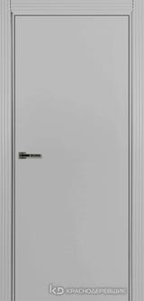 Дверь Краснодеревщик 73 0 с фурнитурой, Эмаль светло-серая MDF