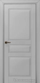 Дверь Краснодеревщик 73 3 с фурнитурой, Эмаль светло-серая MDF