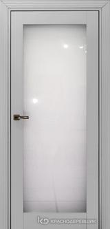 Дверь Краснодеревщик 73 9 (стекло триплекс) с фурнитурой, Эмаль светло-серая MDF