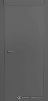 Дверь Краснодеревщик 73 0 с фурнитурой, Эмаль серая MDF