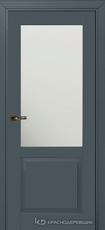 Дверь Краснодеревщик 732.1 (стекло матовое) с фурнитурой, MDF Эмаль серая