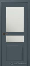 Дверь Краснодеревщик 733.1 (стекло матовое) с фурнитурой, MDF Эмаль серая