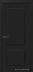 Дверь Краснодеревщик 732 с фурнитурой, MDF Эмаль черная