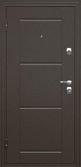 Дверь Дверной континент Эстет Коричневый муар  Белый матовый